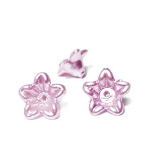 Floare plastic ABS, imitatie perle plastic, mov, 10x10.5x5mm 1 buc
