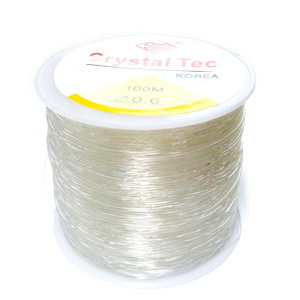 Fir elastic transparent, 0.6 mm, bobina 100 metri 1 buc