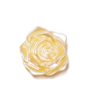 Cabochon plastic ABS, perlat, floare crem-roz, 17x17.5x6.5mm 1 buc