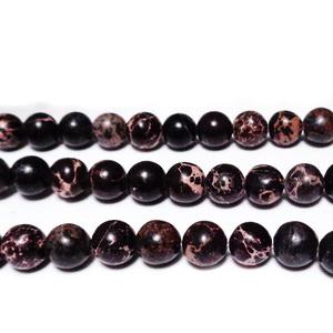 Regalite negru cu roz, 6 mm 1 buc