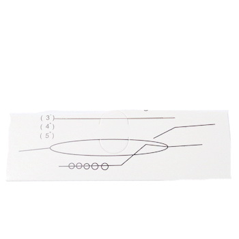 Ac flexibil pt.insirat margele, metalic,  lungime 5.6-5.8cm grosime 0.5mm 1 buc