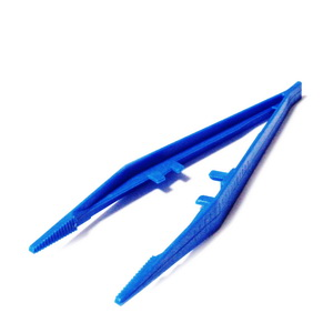 Penseta plastic albastru, 13x0.2~1.5cm 1 buc