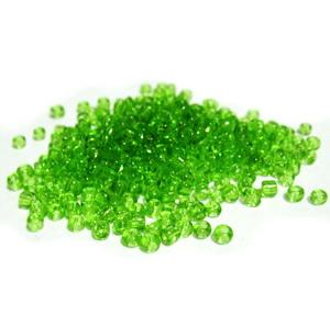 Margele nisip, verde deschis ,transparente, 2mm 20 g