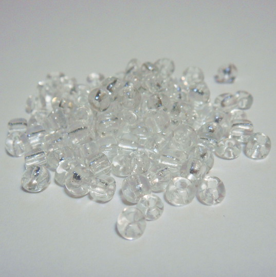 Margele nisip,  transparente, 4mm 20 g