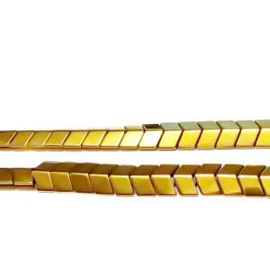 Hematite nemagnetice, placate auriu, sageata 5x6x3mm 1 buc