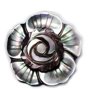 Brosa/pandantiv sidef gri inchis, floare 35mm 1 buc
