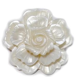 Brosa/pandantiv sidef alb, floare 47mm 1 buc