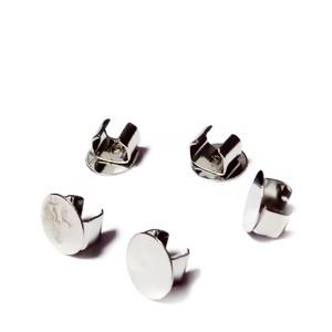 Accesorii metalice fixare pt. cordelute 5-6mm, platou 8mm 1 buc