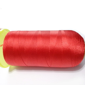 Ata polyester rosie 0.4 mm-mosor cca 1100 metri 1 buc