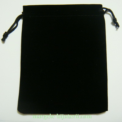 Saculet catifea negru, 11x10cm 1 buc