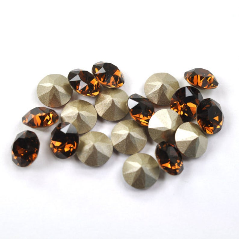 Swarovski Elements, Xirius Chaton 1088 PP10, Smoked Topaz 1.6mm 10 buc