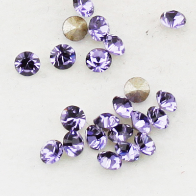 Swarovski Elements, Xirius Chaton 1088 PP10, Tanzanite 1.6mm 10 buc