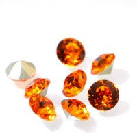 Swarovski Elements, Xirius Chaton 1088 PP10, Tangerine 1.6mm 10 buc