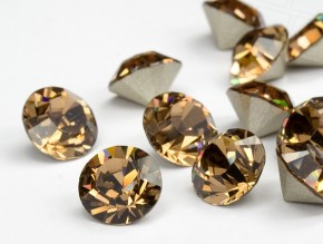 Swarovski Elements, Xirius Chaton 1088 PP10, Light Smoked Topaz 1.6mm 10 buc