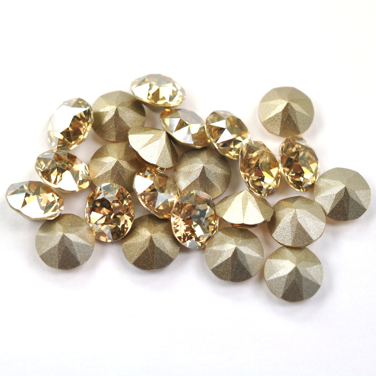 Swarovski Elements, Xirius Chaton 1088 PP10, Golden Shadow 1.6mm 10 buc
