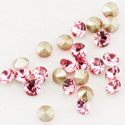 Swarovski Elements, Xirius Chaton 1088 PP10, Light Rose 1.6mm 10 buc
