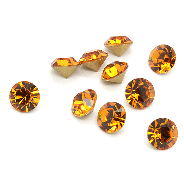 Swarovski Elements, Xirius Chaton 1088 PP14, Topaz 2mm 10 buc