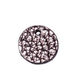 Pandantiv piele naturala, maro inchis, electroplacat, 15x1.3mm 1 buc