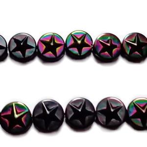 Hematite nemagnetice, electroplacate, negru multicolor, 8x3.5mm 1 buc