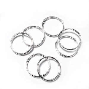 Zale duble placate cu argint, 12mm 10 buc