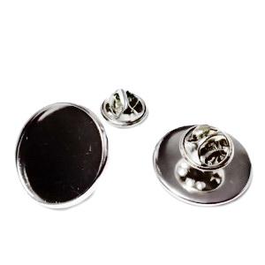 Baza brosa, argintiu inchis, pt cabochon 20mm 1 set