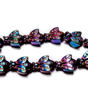 Margele hematite nemagnetice, electroplacate, violet, insecta 10x7.5x4.5mm 1 buc