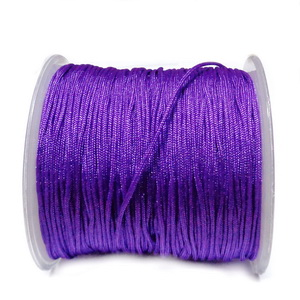 Snur matasos pentru bratari shamballa, violet, grosime 1.2mm 1 m