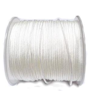 Snur matasos pentru bratari shamballa, alb, grosime 1.2mm 1 m