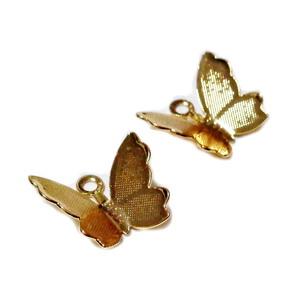 Pandantiv placat cu aur, fluturas 10.5x12x3mm 1 buc