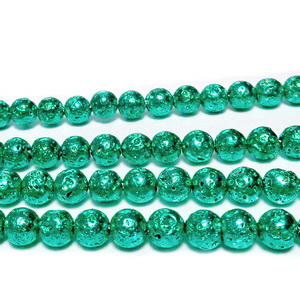 Lava electroplacata, verde, 6-6.5mm 1 buc
