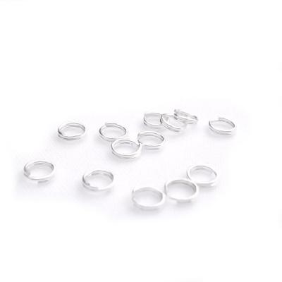Zale duble argintii 5mm 100 buc