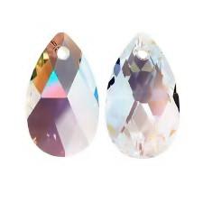 Swarovski Elements, Pear 6106 CRYSTAL SHIMMER, 16mm  1 buc
