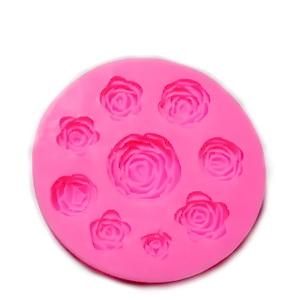 Forma modelaj din silicon roz, forme trandafiri, 95X10 mm 1 buc