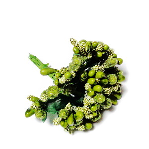 Buchet 12 flori kaky, din stamine, 7-8 cm 1 set