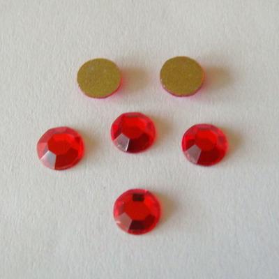 Stras plat, rosu 4.7 mm SS 20 1 buc