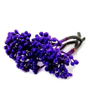Stamine plastic violet, 8-9 cm, bobite 4-5mm 1 buc