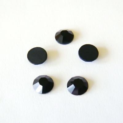 Stras plat, negru,  4.7 mm SS 20 1 buc