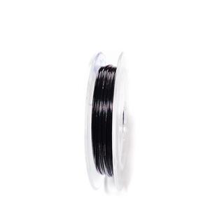 Sarma siliconata neagra, 0.38 mm-rola aprox 10m 1 buc