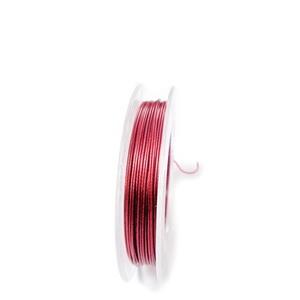 Sarma siliconata rosie, 0.45 mm-rola aprox 10m 1 buc