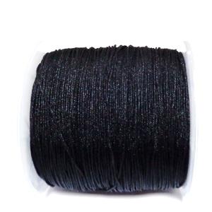Snur Shamballa, Dandelion, negru, grosime 0.5mm-bobina 180m 1 buc