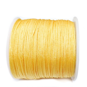 Snur matasos pentru bratari shamballa, galben-auriu, grosime 0.8mm 5 m