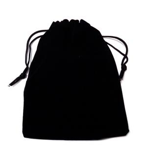Sac catifea neagra, 15x12cm, interior 12X12cm 1 buc