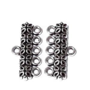 Capat multisir cu 5 bucle, argint tibetan, 25x12mm 1 buc