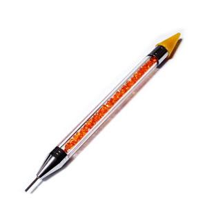Creion cu varf de ceara pentru prins cristale, portocaliu, 146x10~11.5mm 1 buc