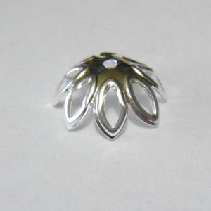 Capac argintiu cu petale, 12mm 10 buc