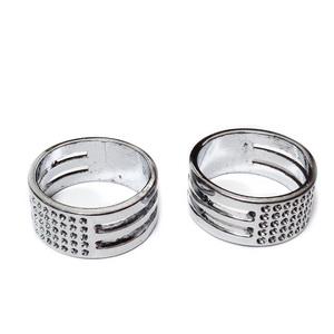 Inel metalic pt. deschidere zale si indoit metal, argintiu inchis, 9x17mm 1 buc