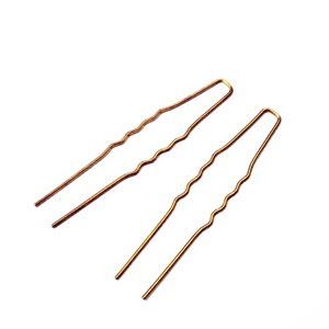 Agrafa metalica, prindere par (coc), bronz-auriu, 63x10x1mm 1 buc