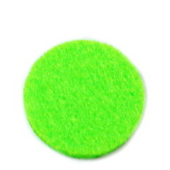 Fetru verde-lime, rotund, 22x3mm 1 buc