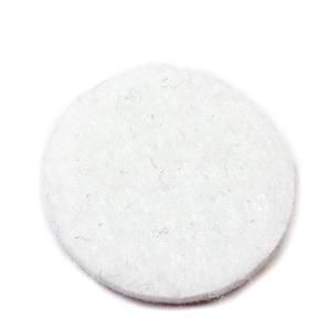 Fetru alb, rotund, 22x3mm 1 buc