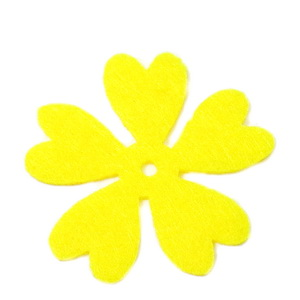 Fetru galben, floare 35x35x0.8mm-set 4buc 1 set